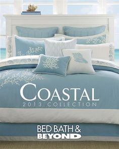 Coastal bedding collections at Bed Bath and Beyond. Coastal bedding collections at Bed Bath and Beyond. Coastal Decor, Beach House Decor, Cottage Decor, Coastal Bedding, Coastal Living Rooms, Bed, Bed Bath And Beyond, Coastal Homes, Coastal Bedrooms