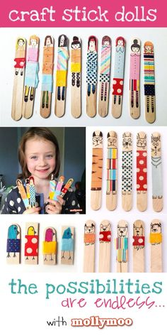 Popsicle Stick Dolls for American Girl party - make one to match their AG dolls.  Maybe even have a game where you put all the sticks in a hat and pick one....