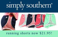 Simply Southern Dark Coral Anchor Running Shorts