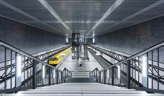 U-Bahnhof Hauptbahnhof by ralfkuschka City Architecture, Skyscraper, Minimalism, Fair Grounds, City Buildings, Abstract, Urban Design, Amazing, Cities