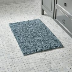 Crate & Barrel Loop Teal Bath Rug ($30) ❤ liked on Polyvore featuring home, bed & bath, bath, bath rugs, crate and barrel, cotton bath rugs, teal bath rugs, cotton bathroom rugs and teal bathroom rugs