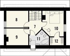Rzut KR BONSAI CE Bonsai, Malaga, House Plans, Floor Plans, How To Plan, Bedrooms, Home Plans, Bonsai Trees, Bonsai Plants
