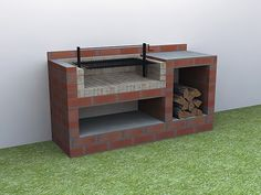 Newest Outdoor Kitchen Decoration Ideas To Make Cozy Kitchen Backyard Kitchen, Outdoor Kitchen Design, Backyard Patio, Barbecue Garden, Outdoor Barbeque, Design Barbecue, Grill Design, Brick Grill, Outdoor Grill Station