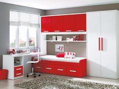 Como amueblar un dormitorio juvenil: Hogar de estilo de Camobel Box Room Bedroom Ideas, Bedroom Furniture Inspiration, Small Room Bedroom, Small Rooms, Bedroom Decor, Kids Bedroom, Modern Small House Design, Small Room Design, Kids Room Design