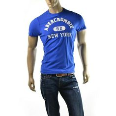 Abercrombie & Fitch Mens T Shirt Blue Mountain