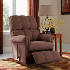 """La-z-boy Furniture, """"Vail"""" Rocker/ Recliner chairs; Like its namesake, Vail is dramatic in its natural beauty and has so much to offer. Its arms and back are generously padded, making it not only attractive, but so comfortable you may never want to stand up again. Add to that the fact that it can recline mere inches from a wall and, well, you might not."""