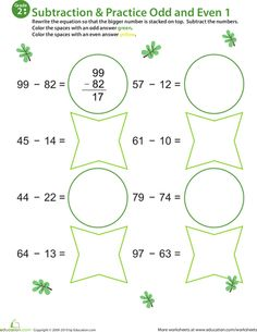 math worksheet : color by number practice two digit subtraction 1  color by  : Vedic Math Worksheets
