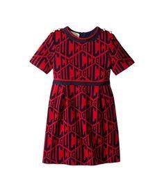 608a1d527bc Gucci Kids Rhombus Cotton Jersey Dress (Little Kids Big Kids)