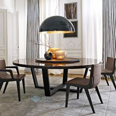 Round Marble Top Dining Table Design - Xilos by Maxalto
