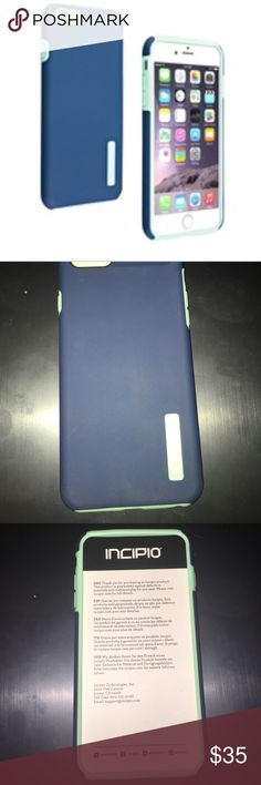Incipio DualPro Case for iphone 6+ NWT - best lightweight, practical and very protective case for iphone 6+. Blue/material is made of polycarbonate and silicone/the case is rigid which makes it resistant to scuffs and scratches, silicone material helps absorb shock during drops and bumps. I have used the same case for 2 years now extensively and it is amazing. It truly protects the body of your phone during drops and bumps. It will not protect screen, use glass film for that. It will fit…