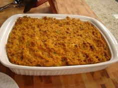 Portuguese Stuffing - I'll use ground chorico instead of beef because that is what I grew up on.