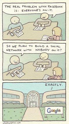 Y así nació Google+... #Humor
