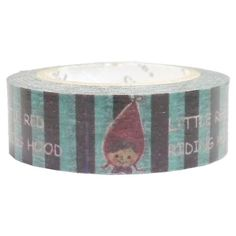 black blue stripe red riding hood Washi Masking Tape deco tape Shinzi Katoh 1