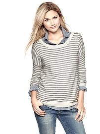 Eversoft striped circle hem sweater