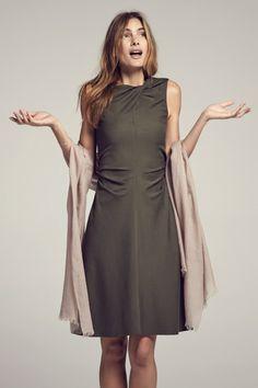 Eleanor Dress :: Olive