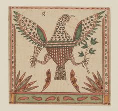 Fraktur drawing watercoloured on laid paper by Johann Adam Eyer, Pennsylvania, USA 1800-1820