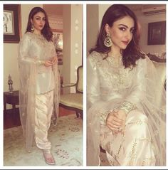 #SohaAlikhan wearing a desi outfit at a recent event. Rate her look. #Glamoursaga #Bollywood #Actress #EthnicStyle