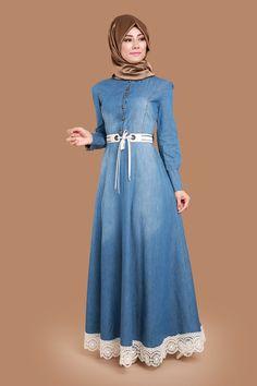 ABAYA DRESS Rana Belt Jeans MSW8124 Open Jeans 100/% turkey