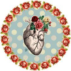 via duas fridas Arte Com Grey's Anatomy, Anatomy Art, Flower Anatomy, Growing Roses, Anatomical Heart, My Funny Valentine, Mexican Art, Heart Art, Sacred Heart