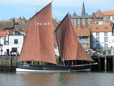 """The """"Reaper"""" in Whitby Harbour. It is a Fifie herring drifter"""