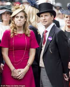 Princess Beatrice at Royal Ascot with boyfriend  Dave Clark 21 June 2014