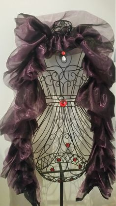 Lavender Darkness: Black and Purple Organza Boa by RoseVonSweet