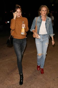 Dakota out in LA with her friend Emily …