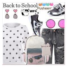 """""""#PVxPusheen"""" by paculi ❤ liked on Polyvore featuring Pusheen, Glamorous, contestentry and PVxPusheen"""