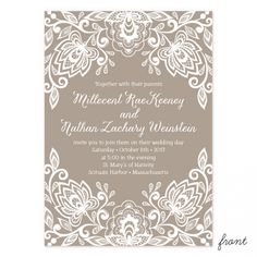 Divine Lace Wedding Invitations | Smitten on Paper
