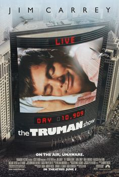 The Truman Show Directed by Peter Weir, starring Jim Carrey, Ed Harris, Laura Linney. An insurance salesman/adjuster discovers his entire life has been fabricated for a TV reality show. The Truman Show, Streaming Movies, Hd Movies, Movies Online, Hd Streaming, Drama Movies, Jim Carrey, Love Movie, Movie Tv