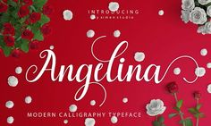 font populer only 10$ Angelina Script   by ximents on @creativemarket