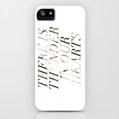 thunder in our hearts iPhone & iPod Case by fieldguided - $35.00