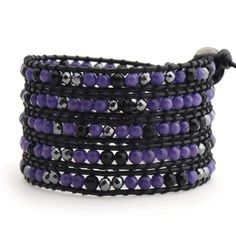 Purple and Mixed Black Crystals on Black