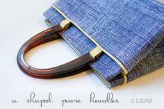 u shaped handle purse tutorial - made by me!