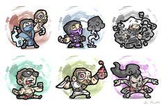 Mortal Kombat!  Sub-Zero, Rain, Smoke, Johnny Cage, Kano & Sheeva:
