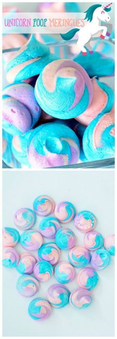 Unicorn Poop Meringues : How to make Meringue Cookies, easy recipe