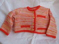 giacca bimba cotone maglia, by maglieria magica, 30,00 € su misshobby.com