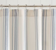 Evan Stripe Shower Curtain Pottery Barn Neutral Hued Stripes On Our Crisp Energize