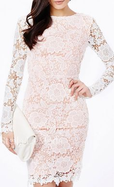 Open Back Lace Floral Pattern Midi Dress - Stella La Moda