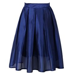 Choies Blue High Waist Sheer Mesh Overlay Skater Skirt (24 CAD) ❤ liked on Polyvore featuring skirts, blue, circle skirt, blue skater skirt, flared skirt, blue circle skirt and blue high waisted skirt