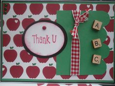 Teacher Thank You Card by ComingUpCrafts