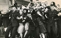 Critical mass: a police cordon holds back screaming fans desperate to reach the BeatlesPhoto: Central Press