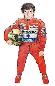50 Personalidades viram mangá no Japão: Ayrton Senna representa o Brasil