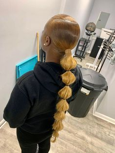 Hair Ponytail Styles, Black Ponytail Hairstyles, Sleek Ponytail, Sleek Hairstyles, Baddie Hairstyles, Weave Hairstyles, Bubble Ponytail, Beautiful Black Hair, Hair Due