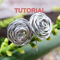 TUTORIAL  Wire Wrapped Rose Earrings by WireBliss on Etsy, $3.00