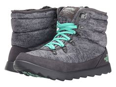 The North Face ThermoBall™ Lace Heather Grey/Surf Green - Zappos.com Free Shipping BOTH Ways