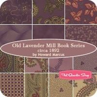 Old Lavender Mill Book Series Circa 1892 Collections for a Cause Fat Quarter Bundle<BR>Howard Marcus for Moda Fabrics Headboard Art, 365 Challenge, Fat Quarter Shop, Fabulous Fabrics, Fat Quarters, So Little Time, Book Series, Fabric Patterns, Old And New