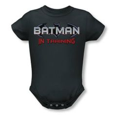 Amazon.com: Batman - Infant Batman In Training Onesie In Charcoal: Baby