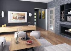 Projekt domu Oceania II 126,50 m² - koszt budowy - EXTRADOM House Outside Design, Simple House Design, Dream Home Design, Modern House Design, Modern Bungalow House, Bungalow House Plans, Dream House Plans, Single Storey House Plans, House Construction Plan