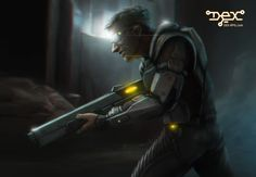 Cybersoldiers, representing authority in the streets of Harbor Prime, but solely defending the interests of the megacorporations which hire them. They usually get away with anything. Dex - 2D cyberpunk indie RPG game - www.dex-rpg.com